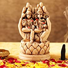 TIED RIBBONS Laxmi Ganesh Idol for Home Decor Mandir Table Desktop Table Decoration - Lakshmi Ganesha Murti