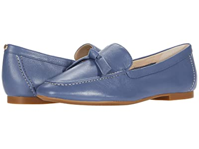 Cole Haan Caddie Bow Loafer (Vintage Indigo Soft Grainy Leather/Knot Bow/Natural Stitch) Women