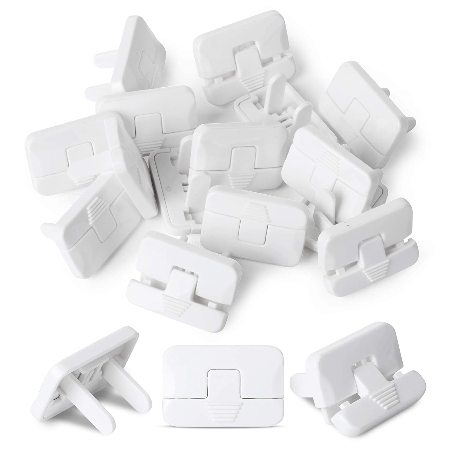 Bates- Outlet Covers, 15 Pack, 2 Prong Outlet Covers, Baby Proof Outlet Covers, Plug Covers for Electrical Outlets, Outlet Plug Covers, Plug Covers, Baby Outlet Covers, Child Safety Outlet Covers