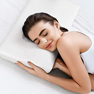 Milford Memory Foam Pillow Standard Size Neck & Back Support for Sleeping with Removable Zipper Cover Pillow,Cervical Pain...