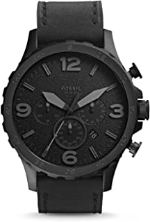 Fossil Men's Quartz Watch, Analog Display and Leather Strap JR1354