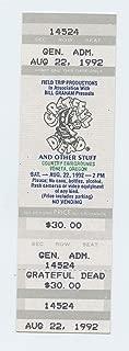 Grateful Dead 1992 Aug 22 County Fairgrounds Veneta Unused Ticket