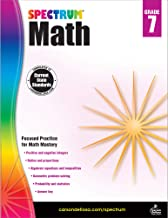 Download Spectrum Seventh Grade Math Workbook – Algebra, Integers, Ratios, Geometric Mathematics With Examples, Tests, Answer Key for Homeschool or Classroom (160 pgs) PDF