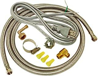 EZ-FLO 48337 Dishwasher braided stainless steel Installation Kit with 72-in connector..