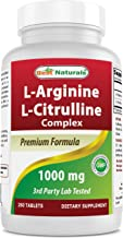 Best Naturals L-Arginine L-Citruline Complex Tablets, 250 Count