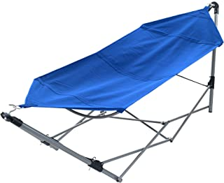 Pure Garden Portable Hammock with Stand-Folds and Fits into Included Carry Bag for Easy Travel-Perfect for Backyard, Pool, Beach, Hiking and More