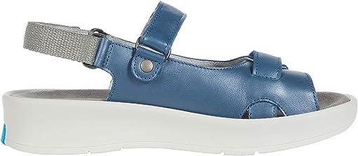 Steel Blue Sienna Pearl Leather