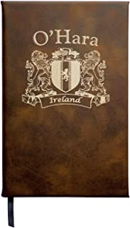 O'Hara Irish Coat of Arms Leather Journal