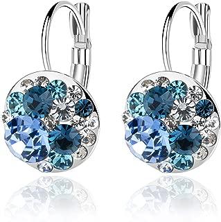 swarovski crystal earrings blue
