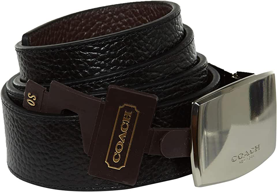 Coach Black/Brown Leather Cut-to-Size Reversible Belt F64842