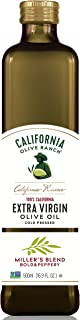 California Reserve Miller's Blend Extra Virgin Olive Oil - Finishing Olive Oil - Cooking & Baking, California Grown Cold Pressed EVOO - Arbequina, Arbosana and Koroneiki Olives - Non GMO, Whole30, Keto, Vegan Friendly, Kosher Olive Oil, 500mL