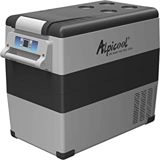Alpicool CF55 Portable Refrigerator 58 Quart(55 Liter) Vehicle, Car, Truck, RV, Boat, Mini Fridge Freezer for Driving, Travel, Fishing, Outdoor -12/24V DC