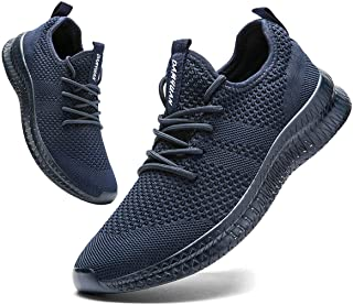 Men Running Shoes Men Casual Breathable Walking Shoes Sport Athletic Sneakers Gym Tennis Slip On...