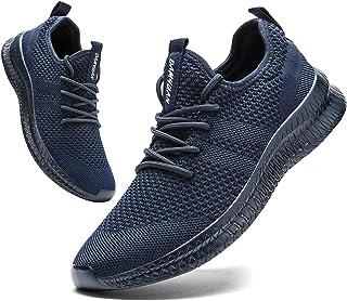 FUJEAK Hommes Chaussures De Course Hommes Casual Chaussures De Marche Respirantes Sport Baskets Athlétiques Gym Tennis Sli...