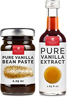 Vanilla Bean Paste and Pure Vanilla Extract for Baking (Combo Pack) - Heilala Vanilla Beans are Hand-Picked and Ethically Sourced from Polynesia, Gourmet Bourbon Variety, Loved by Bakers Worldwide