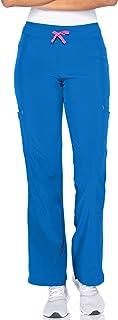 Smitten womens Smitten Contemporary Slim-fit 2-pocket Elastic-waist Scrub Pants for Women S201003 Medical Scrubs Pants (pa...