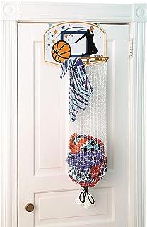 Taylor Toy Basketball Hoop Hamper - Laundry Basket for Kids - Hanging Hamper