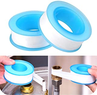Teflon Tape, Thread Seal Tapes,PTFE Thread Seal Tape for Plumbers Sealant Tape for Leak Water Pipe Thread 1/2 inch x 500 i...