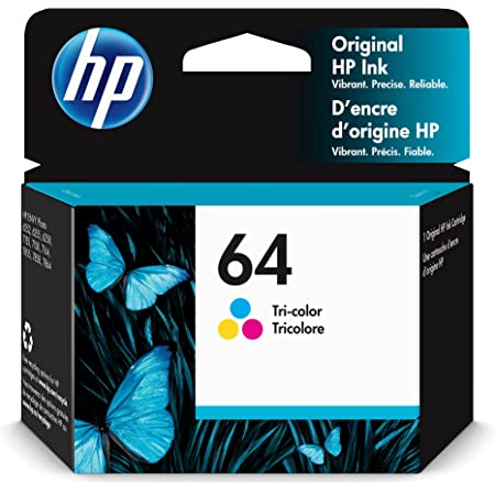 Original HP 64 Tri-color Ink Cartridge | Works with HP ENVY Photo 6200, 7100, 7800 Series | Eligible for Instant Ink | N9J89AN