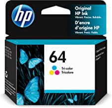 Original HP 64 Tri-color Ink Cartridge | Works with HP ENVY Photo 6200, 7100, 7800 Series | Eligible for Instant Ink | N9J...