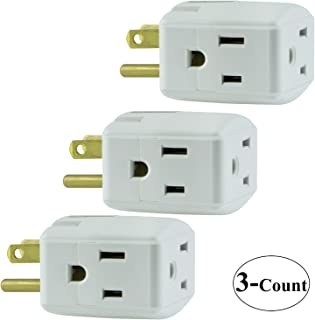 3 Packs of GE Grounded 3-Outlet Tap, 58368