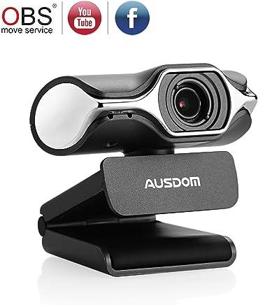 Ausdom Full HD 1080p Webcam, Live streaming della fotocamera, Webcam USB, Supporto Facebook YouTube Streaming, Compatibile per Mac OS Windows 10/8/7 - Trova i prezzi più bassi