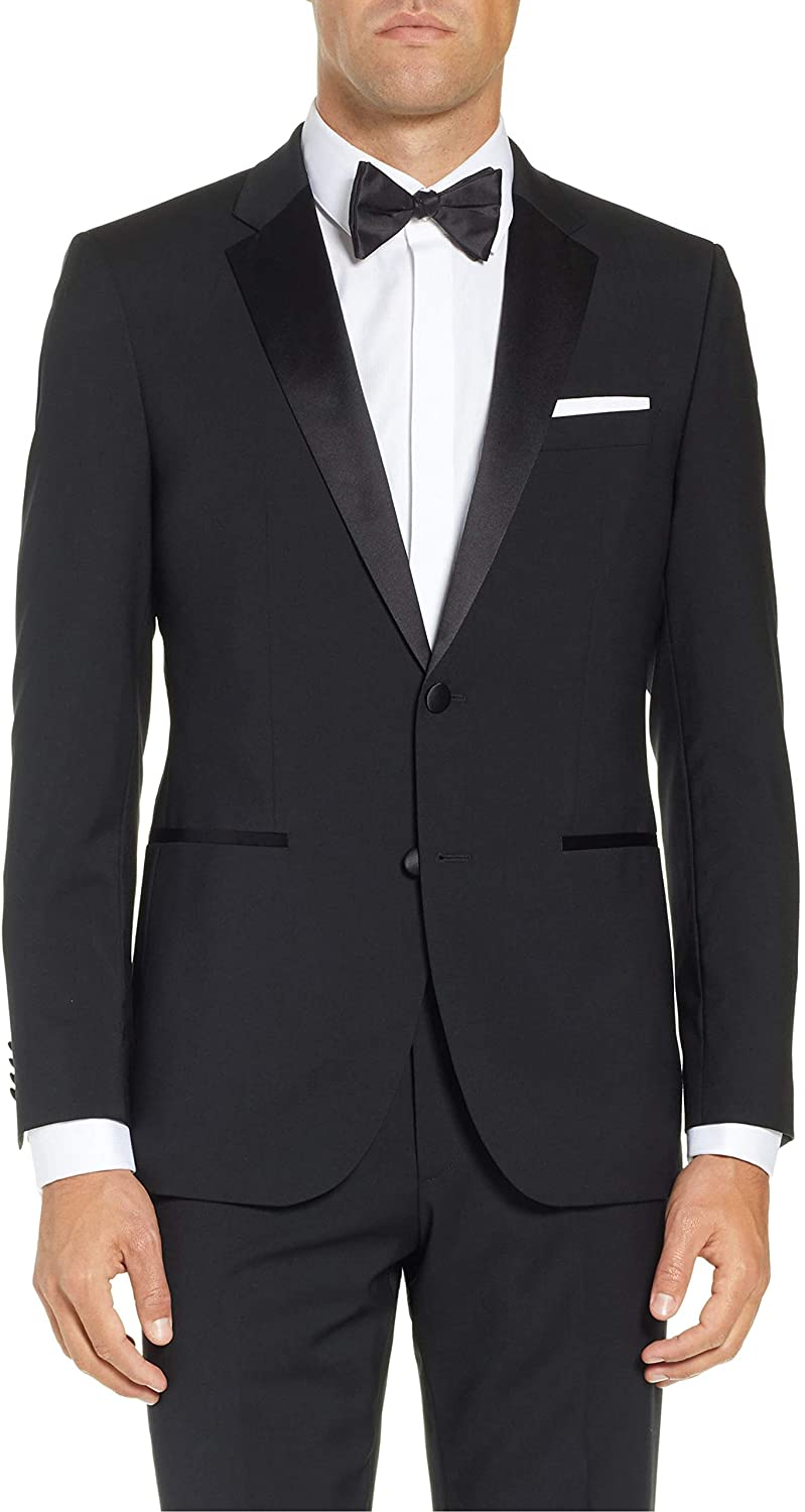 Adam Baker Men's Classic & Slim Fit Two-Piece Formal Tuxedo Suit - Available in Many Sizes & Colors