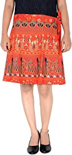 Rajasthani Wrap around Printed Skirt for Women Jaipuri Print Skirt (F_W18NT_0007)