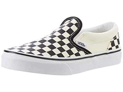 Vans Kids SINGLE SHOE Classic Slip-On (Little Kid/Big Kid) ((Checkerboard) Black/White) Kid