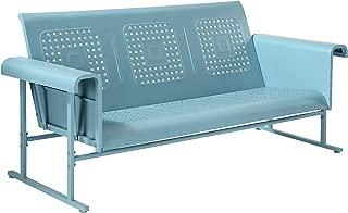 Crosley Furniture CO1028-BL Veranda Sofa Glider, Caribbean Blue