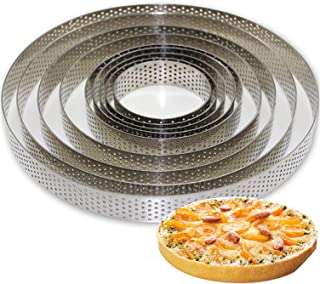 Round Stainless Steel Cake Making Molds Cake Fruit Pie Circle Mold Pizza Dessert Diy Decoration Mould Kitchen Baking Tool,80X20Mm