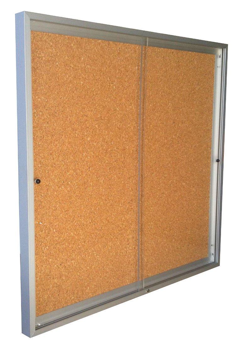 Vitrina de anuncios para 8 tamaños A4 de puertas correderas fondo ...