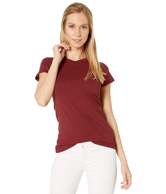 LAmade Short Sleeve Crew Tee (Pinot Noir) Women's T Shirt