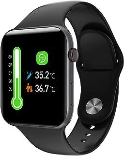 Lemonda Air Pro Smart Watch Fitness Tracker IP67 Waterproof Heart Rate Body Temperature Monitor Black