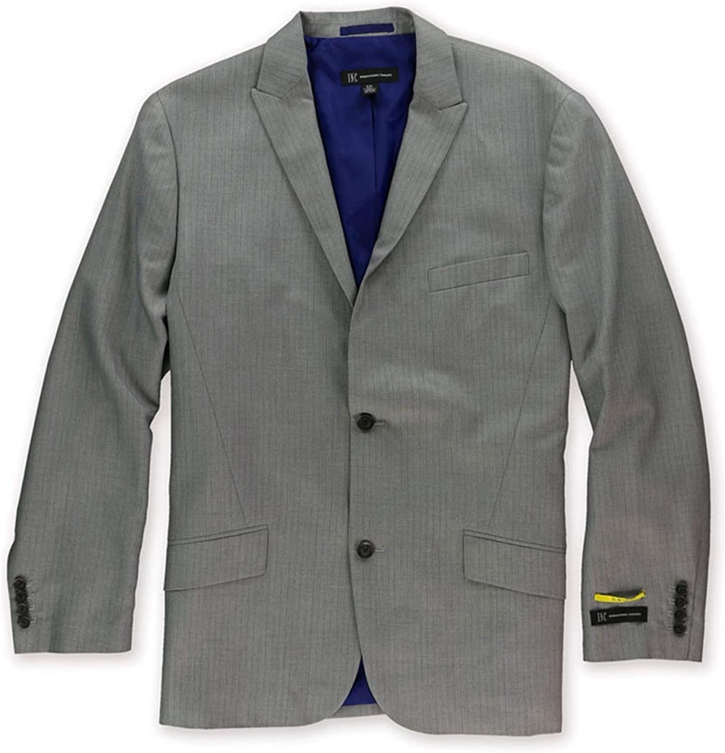 I-N-C sold out Great interest Mens Pinstripe Two Jacket Button Blazer