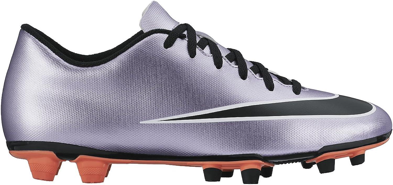 NIKE New Men's Mercurial Vortex II FG Soccer Cleat purplec Black 11