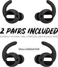 EarBuddyz Ultra Ear Hooks and Covers Compatible with Apple AirPods 1 & AirPods 2 or EarPods Featuring Bass Enhancement Technology, Black