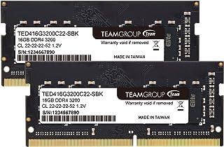 Team ノートPC用 SO-DIMM DDR4 3200MHz PC4-25600 16GBx2枚組 32GBkit 無期限保証