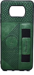 حافظة من الجلد مع حامل خاصة بجهاز شاومي بوكو اكس 3 (اخضر)