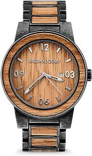 Original Grain Wood Wrist Watch | Barrel Collection Analog Watch | Japanese Quartz Movement | Wood and Stainless Steel