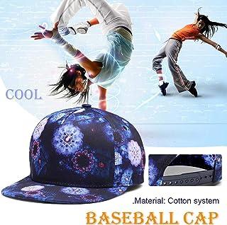 c7fe9934e03d3 NUZADA Baseball Caps - 3D Printing Hip Hop Hats Double Inner Layer Baseball  Cap for Outdoor