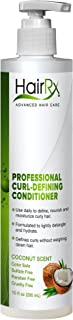 HairRx Professional Curl-Defining Conditioner with Pump, Coconut Scent, 10 Ounce