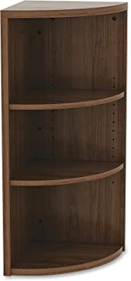 "Lorell Essentials Book Rack, 36"" x 14.8"" x 37.8"", Walnut"