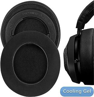 Geekria Sport Cooling Gel-Infused Earpad Replacement for Razer Kraken Pro V2, 7.1 V2, 7.1 Chroma V2, Kraken Pro V2 Pewdiepie/Stormtrooper Edition Ear Pad/Ear Cushion/Ear Cups (Black/Gel)