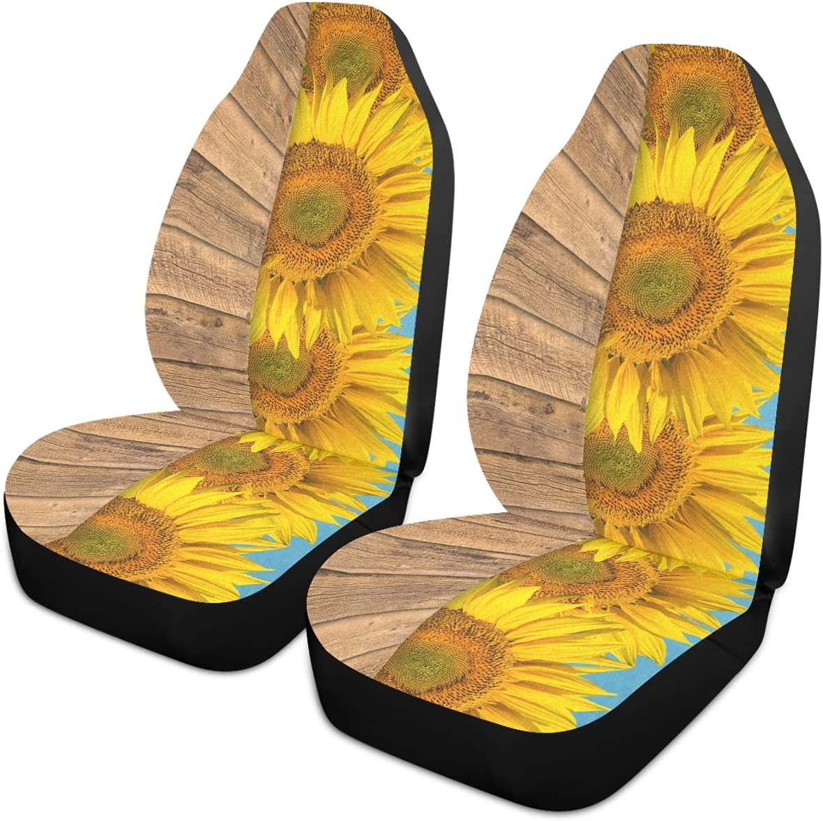 Oarencol Sunflower Sale item Floral Wooden Blue Las Vegas Mall Covers Seat Sky Car Univer