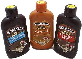 Variety Pack - Smuckers Magic Shell Ice Cream Topping (7.25 oz) Caramel, Chocolate, Chocolate Fudge