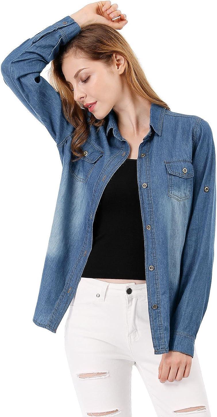 Allegra K - Camiseta de manga corta para mujer con cuello ...