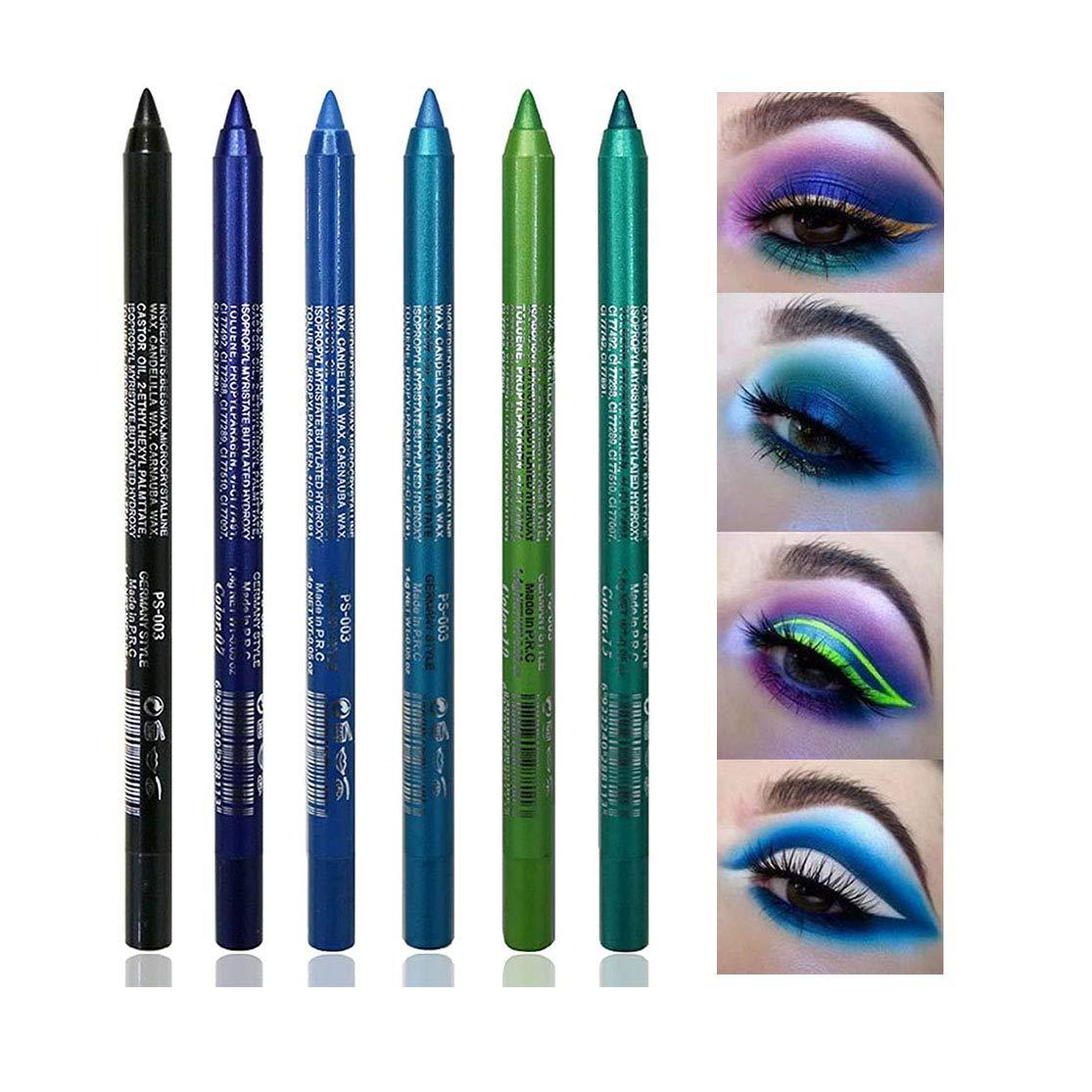 6 2021 Pcs Blue Selling and selling Eyeliner Pencil for Glitter Eye Liner women Metallic