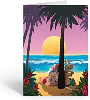 Tropical Sunset Christmas Card - 18 Beach Tropical Christmas Cards and Envelopes … (Standard)