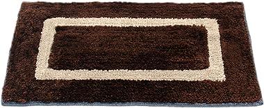 "Story@Home Handicraft Style Eco Series 2 Piece Cotton Blend Door Mat Set - 40 x 60 cm or 16""x24"", Multi"